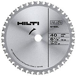 Hilti Lame pour métaux ferreux Z40 A de 6 1/2po x 5/8po
