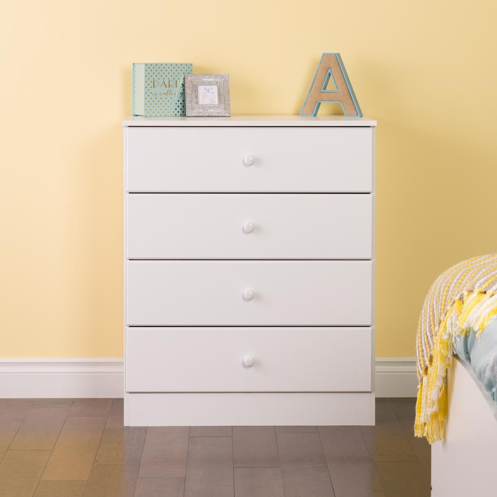 Prepac Astrid 47.25-inch x 28.25-inch x 16-inch 6-Drawer Dresser in White