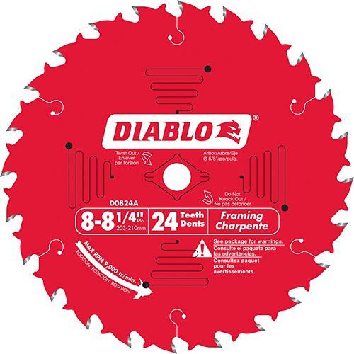 Diablo Framing Blade 8-1/4 x 24 T
