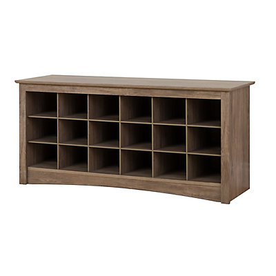 Shoe Cubby Bench Drifted Gray