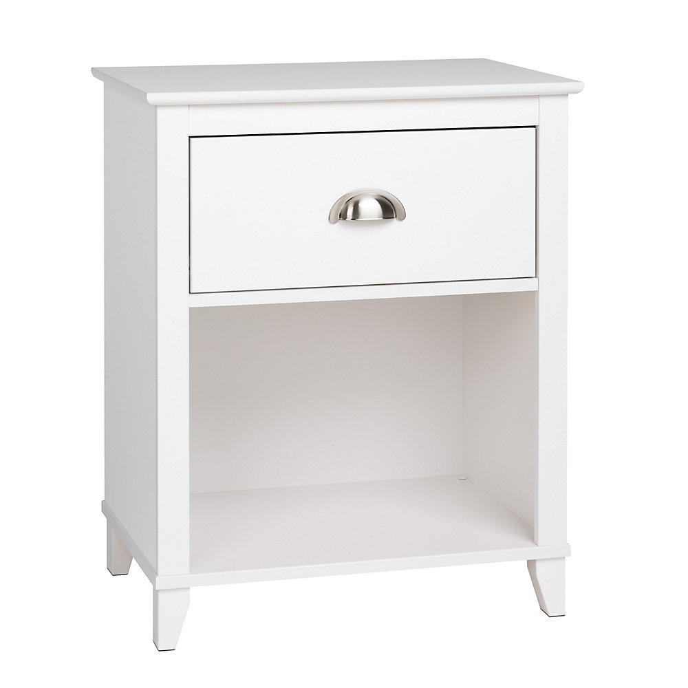 Yaletown 23-inch x 28-inch x 16-inch 1-Drawer Nightstand in White