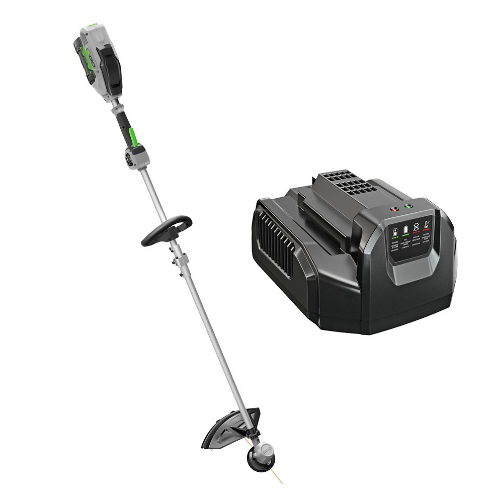 EGO 15-inch 56V Lithium-Ion Electric Cordless String Trimmer w/Rapid Reload Head with Battery and Charger