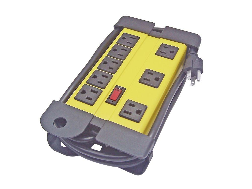 HUSKY 6FT SJT 14/3C 60C 8-Outlet Power bar