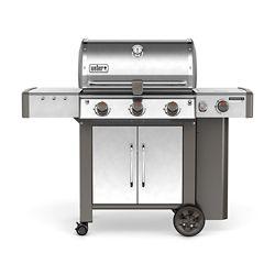 Weber Barbecue au propane Genesis II 3 à 3 brûleurs GS4 à haute performance, acier inoxydable
