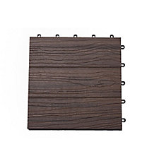 Elite 12-inch x 12-inch Jarrahwood Deck Tile