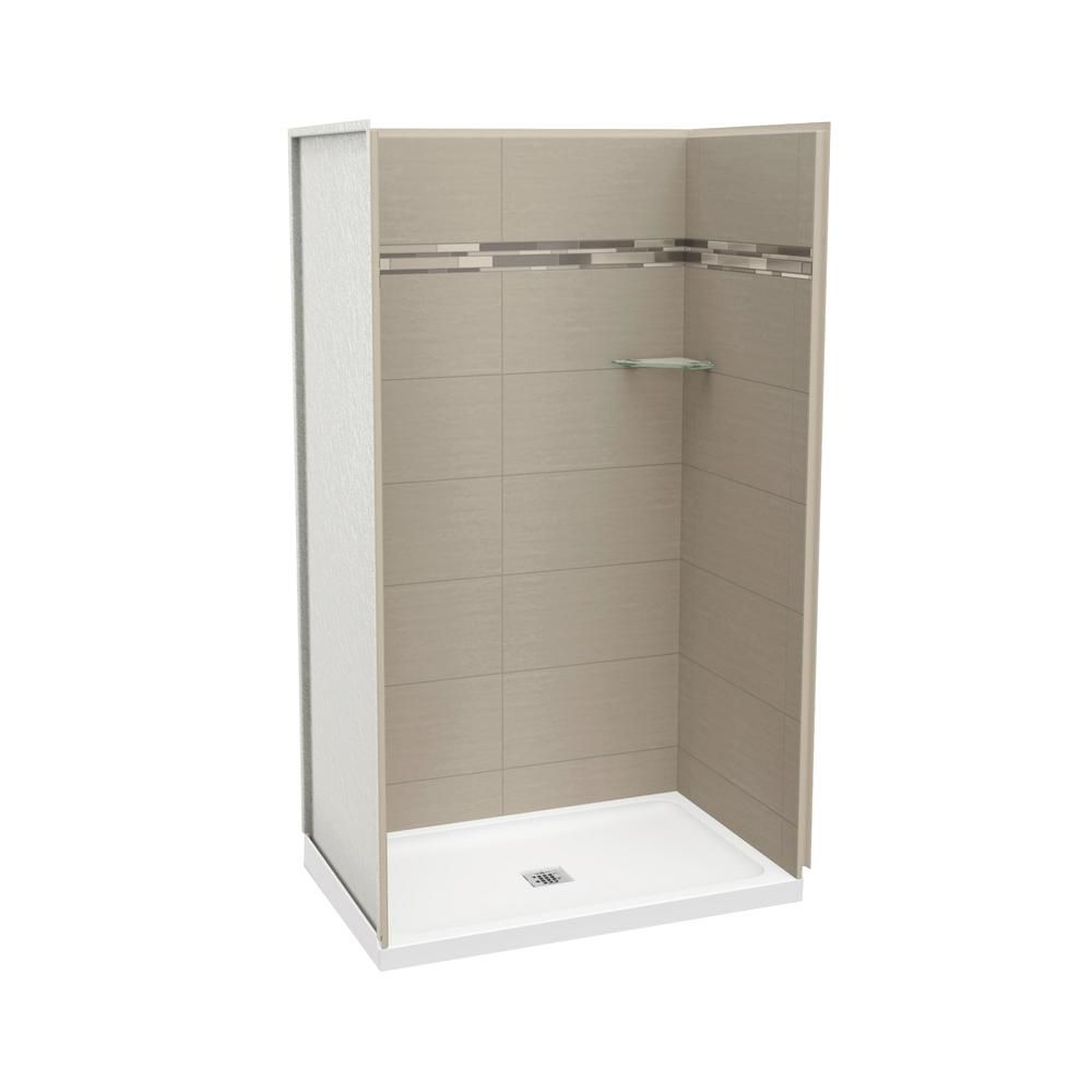 MAAX Utile 48 Inch Origin Greige Alcove Shower Kit