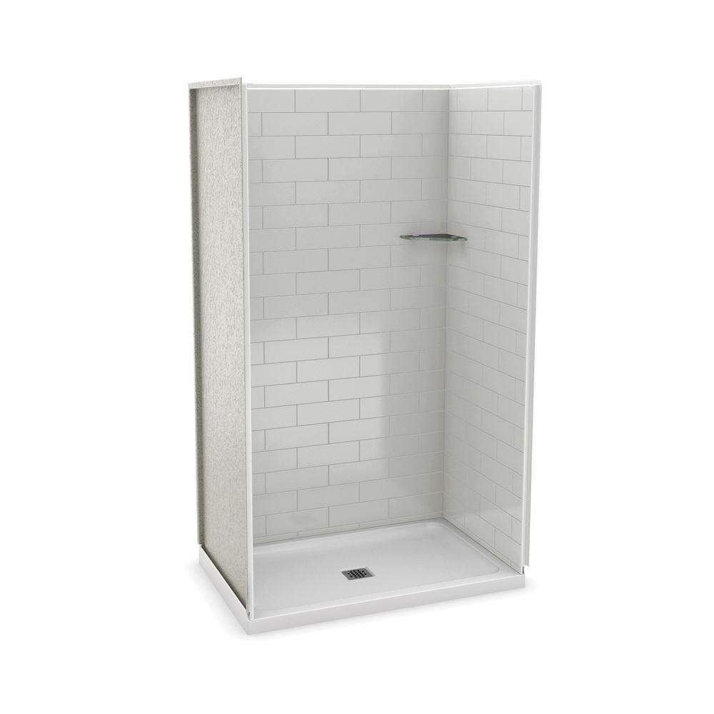 Utile 48 Inch Metro Soft Grey Alcove Shower Kit