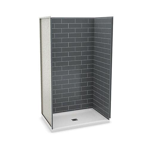 Utile 48 Inch Metro Thunder Grey Alcove Shower Kit