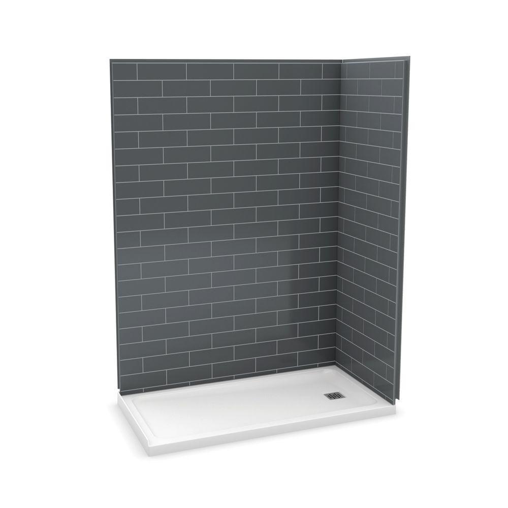 Utile 60 Inch Metro Thunder Grey Right Hand Corner Shower Kit