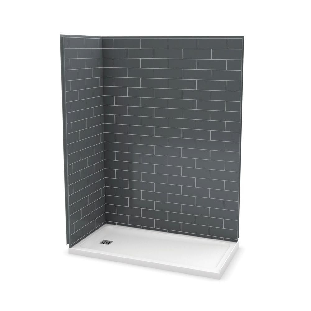 Utile 60 Inch Metro Thunder Grey Left Hand Corner Shower Kit