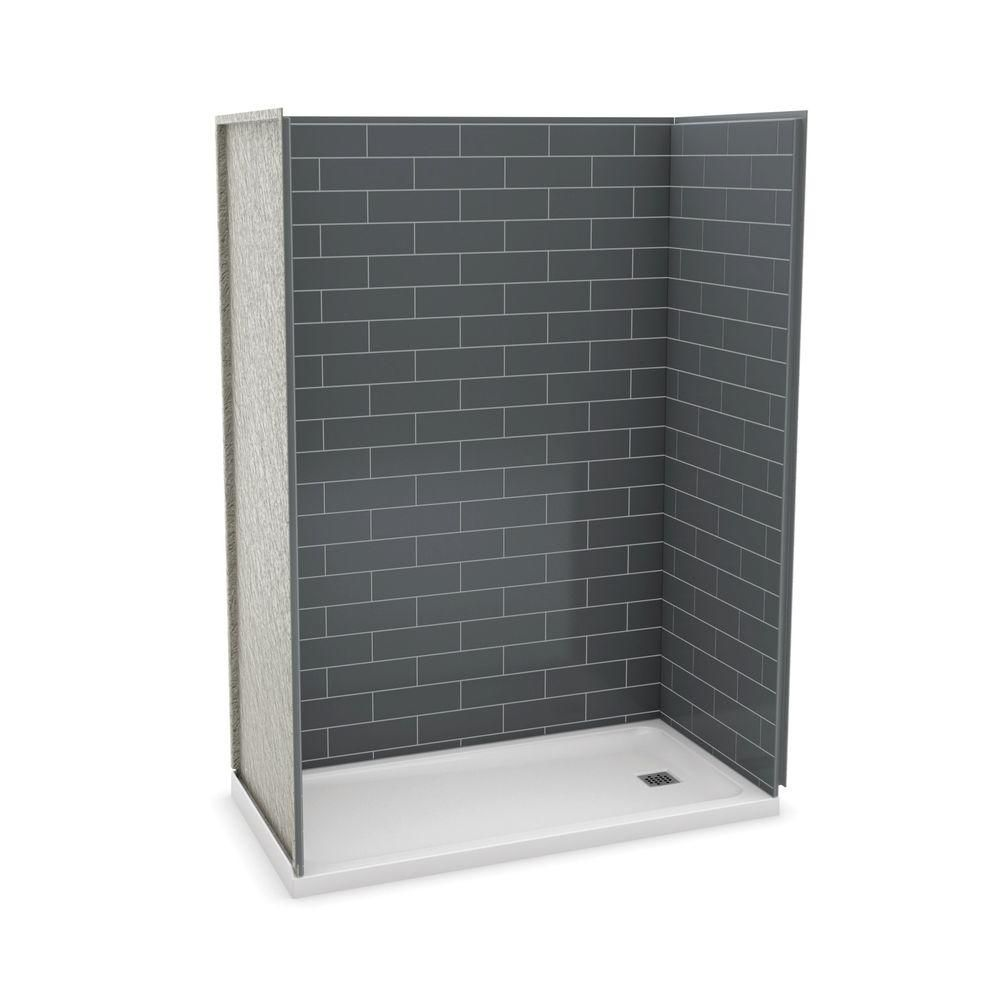Utile 60 Inch Metro Thunder Grey Right Hand Alcove Shower Kit