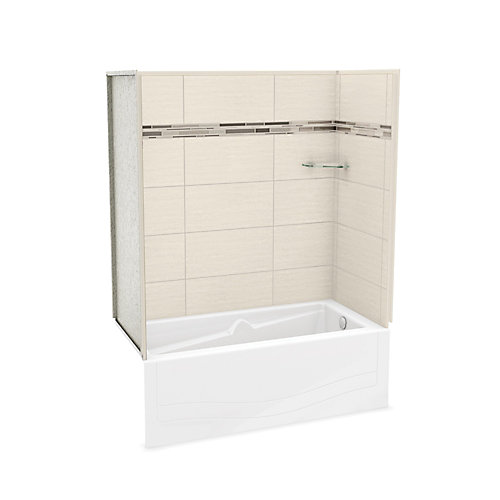 Utile Origin Greige Tub Wall Kit With Avenue Tub Right Hand