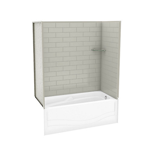 Utile Metro Soft Grey Tub Wall Kit With Avenue Tub Right Hand