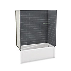 Utile Metro Thunder Grey Tub Wall Kit With Avenue Tub Right Hand
