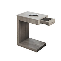 Accent Table with Drawer in Dark Taupe