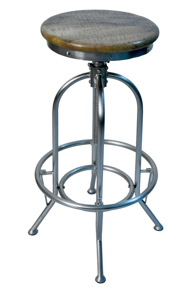 Naveed-Adjustable Stool-Distressed Nat.