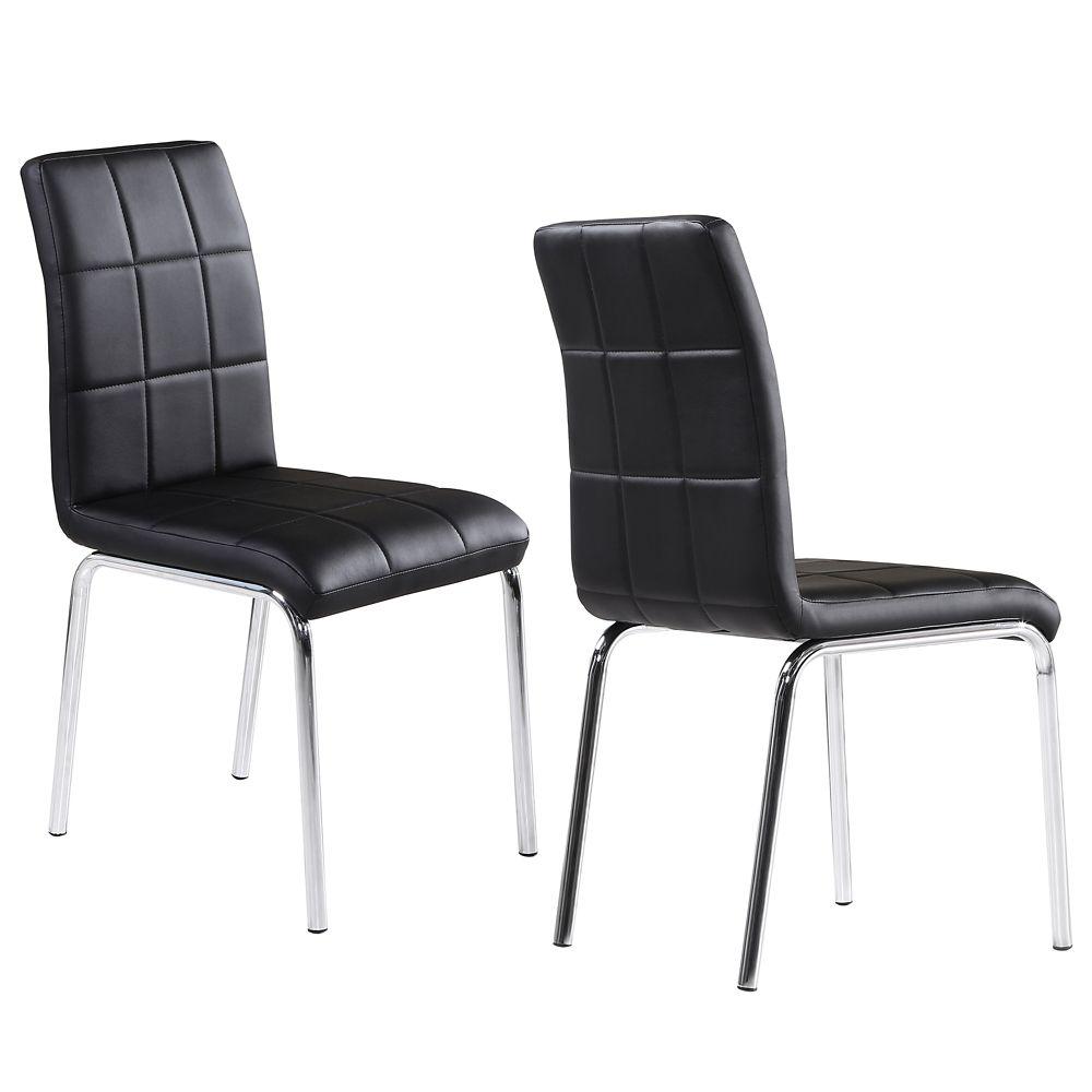 Ensemble de quatre chaises dappoint noires Solara II