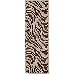 Home Decorators Collection Kisama Chocolate 2 Feet 6 Inch x 8 Feet Indoor Runner