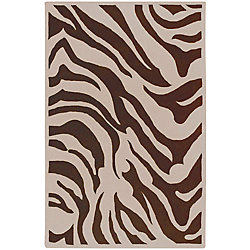 Home Decorators Collection Kisama Chocolate 5 Feet x 8 Feet Indoor Area Rug
