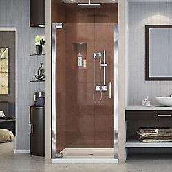 DreamLine Elegance 30-1/2-inch to 32-1/2-inch x 72-inch Semi-Frameless Pivot Shower Door in Chrome