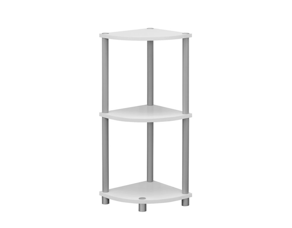 Accent Table - 30 Inch H / White Or Black Reversible