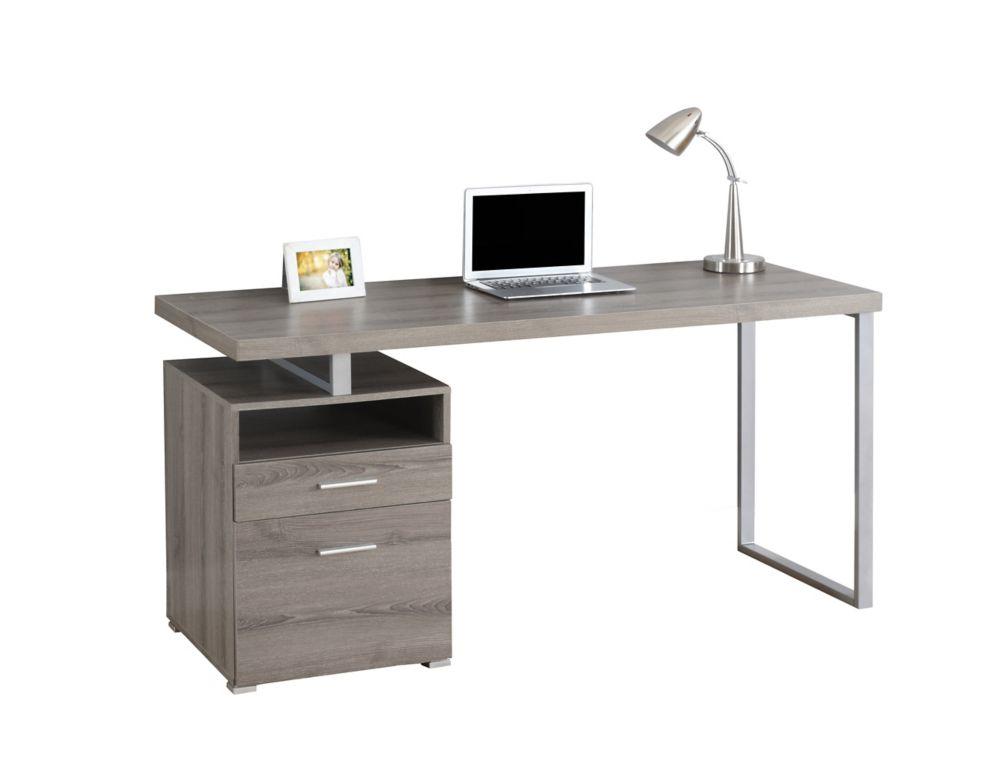 60 Inch X 30 24 Standard Computer Desk In Grey
