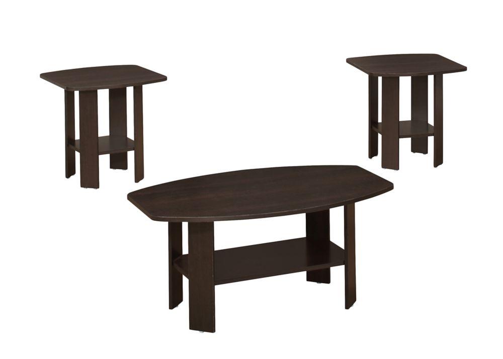 Ensemble De Tables - 3Pcs / Cappuccino