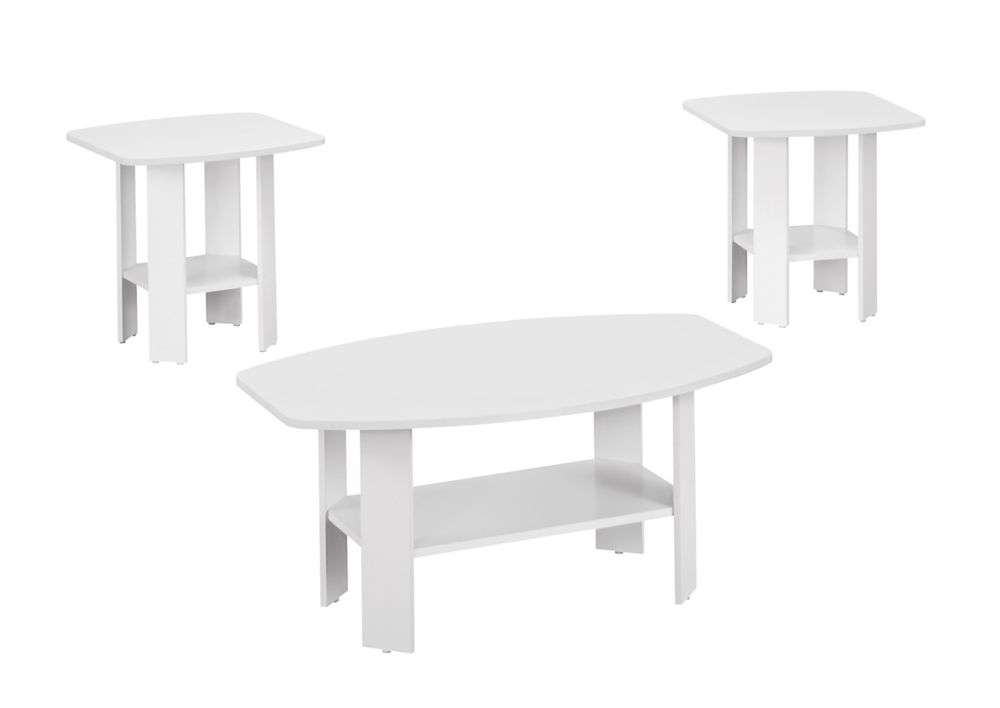 Ensemble De Tables - 3Pcs / Blanc