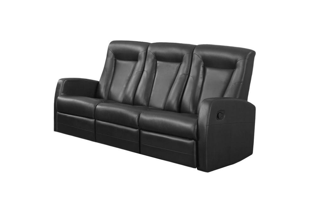 Sofa - Cuir Reconstitue Noir