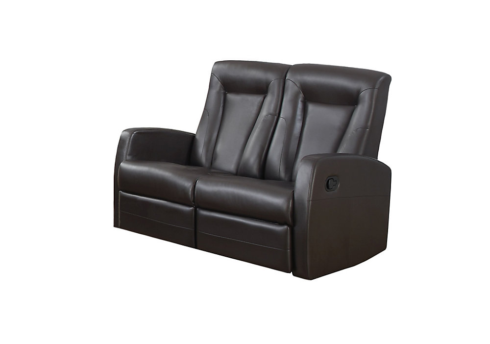 Reclining - Love Seat Brown Bonded Leather