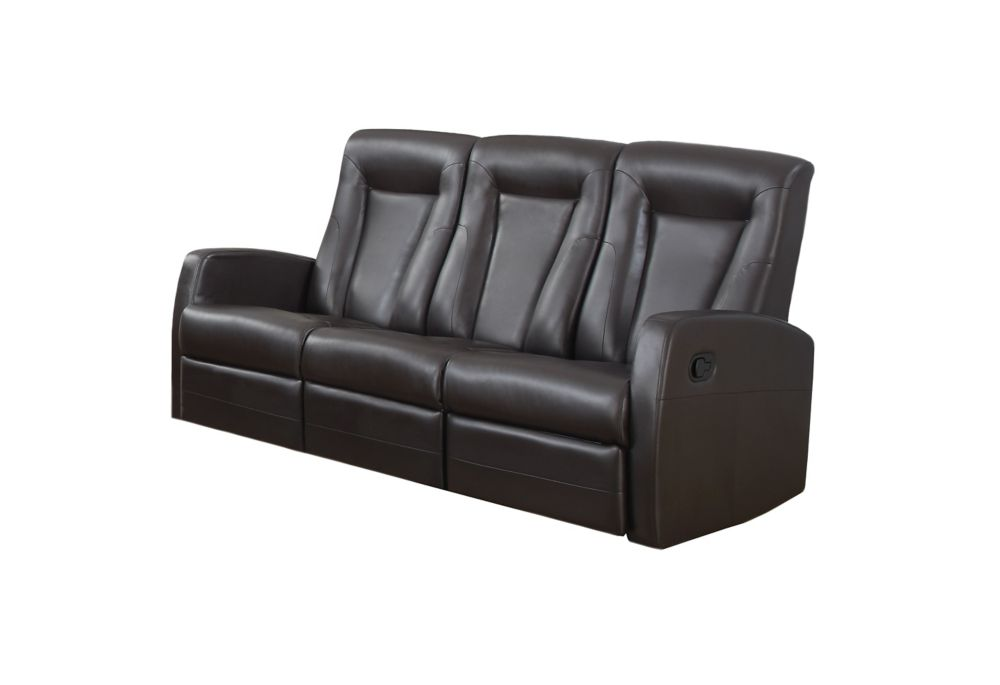Reclining - Sofa Brown Bonded Leather