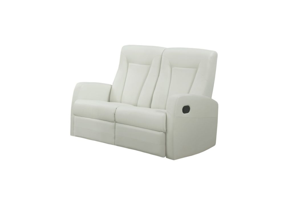 Reclining - Love Seat Ivory Bonded Leather