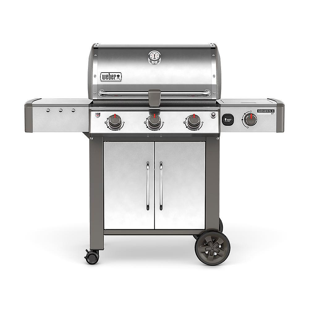 Genesis II LX S-340 3-Burner Natural Gas BBQ in Stainless Steel