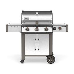 Weber Barbecue au gaz naturel avec 3 brûleurs Genesis II LX S-340, acier inoxydable