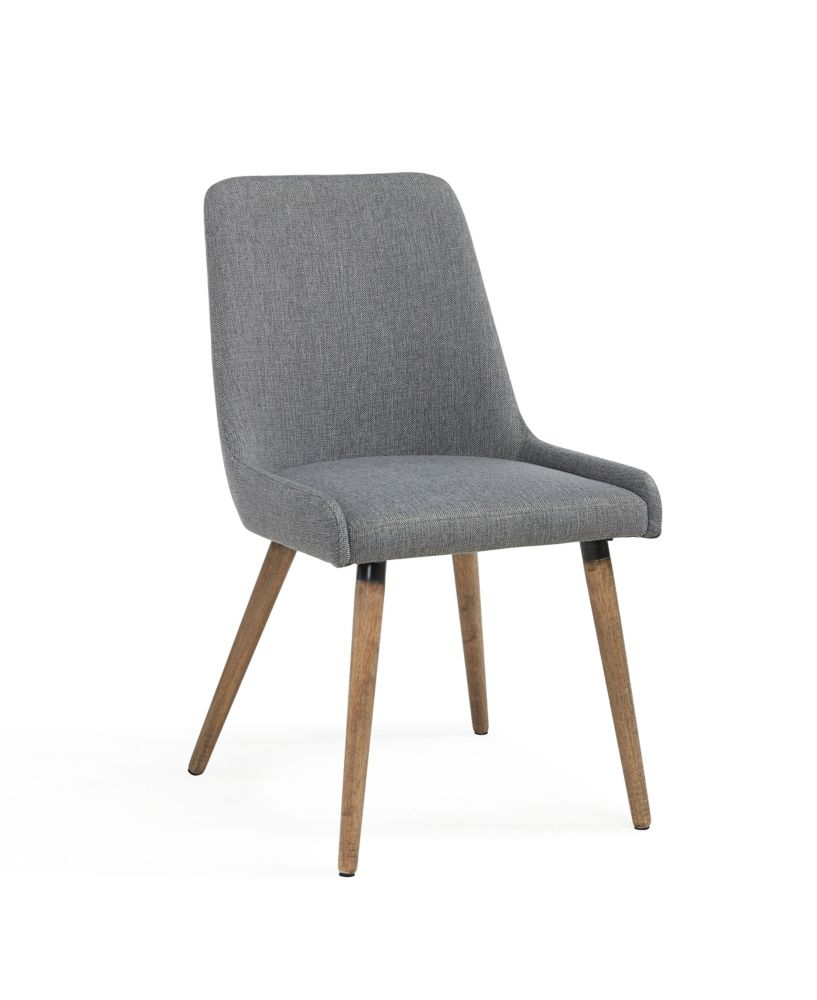 Mia-Side Chair-Grey/Dark Grey-Set Of 2