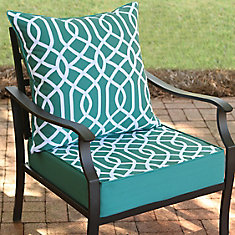 24 inch W x 24 inch D x 20 inch H Patio Deep Seating Set in Coleman Geo - 2 Piece