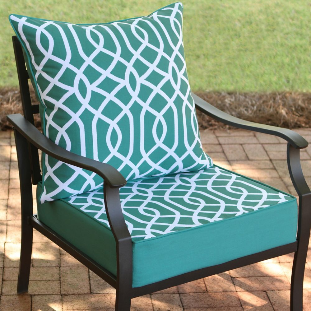 outdoor cushions pillows the home depot canada. Black Bedroom Furniture Sets. Home Design Ideas