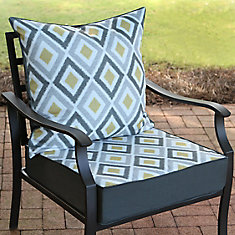 24 inch W x 24 inch D x 20 inch H Patio Deep Seating Set in Dance Hall Ikat - 2 Piece