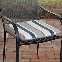 Hampton Bay Universal Outdoor Seat Pad in Funk Stripe Multi-Colour