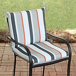 Hampton Bay 20 inch W x 18 inch D x 18 inch H MidBack Cushion with  Multi-Colour Funk Stripe