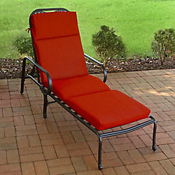 Suntastic Chaise Patio Cushion in Sunvalley Red