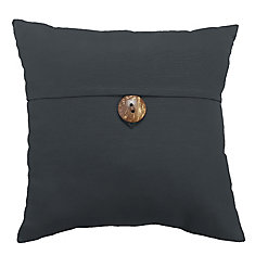 17-inch Patio Pillow with Button in SunValley Graphite