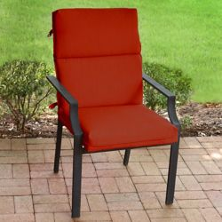 Suntastic Highback Patio Cushion in Sunvalley Red