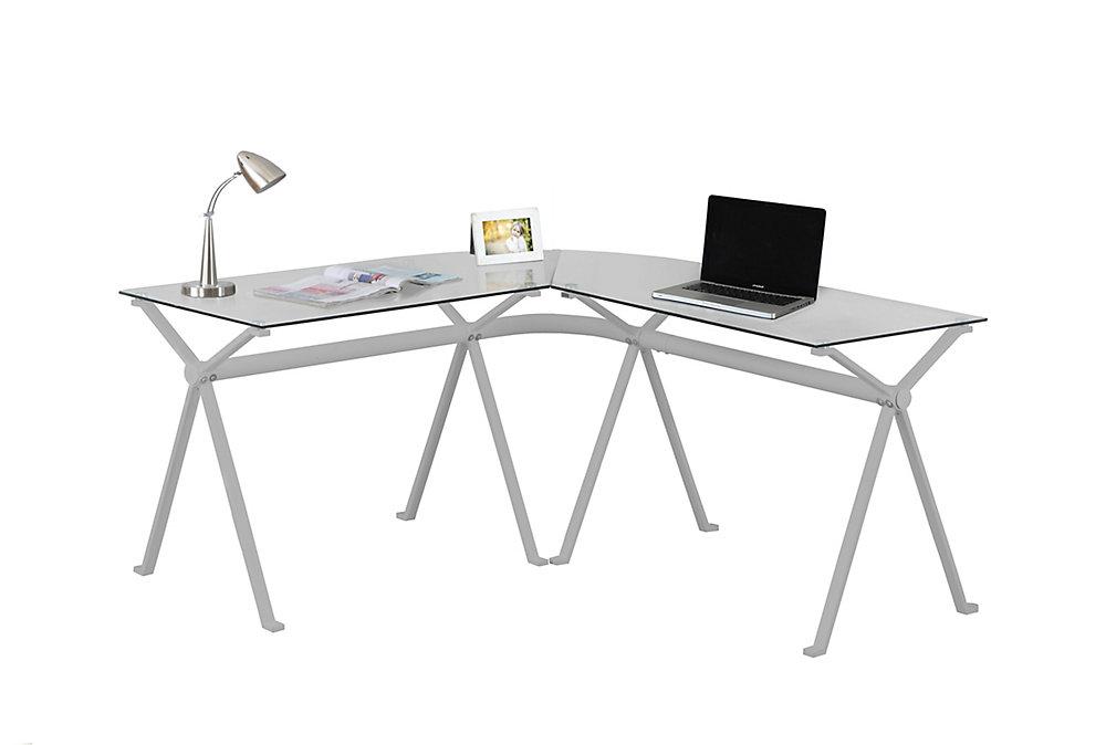 58-inch x 29-inch x 23-inch Standard Computer Desk in Silver