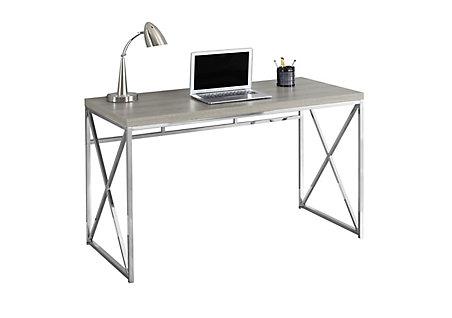 Monarch Specialties 47 Inch X 30 24 Standard Computer Desk In Grey The Home Depot Canada