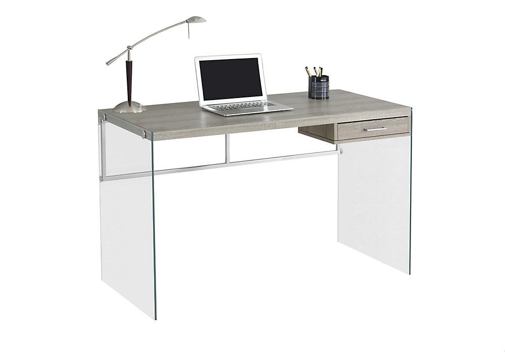 Bureau d'ordinateur standard, 48po x 30po x 24po, gris