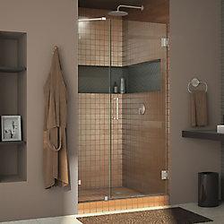 DreamLine Unidoor Lux 44-inch x 72-inch Frameless Pivot Shower Door in Brushed Nickel with Handle