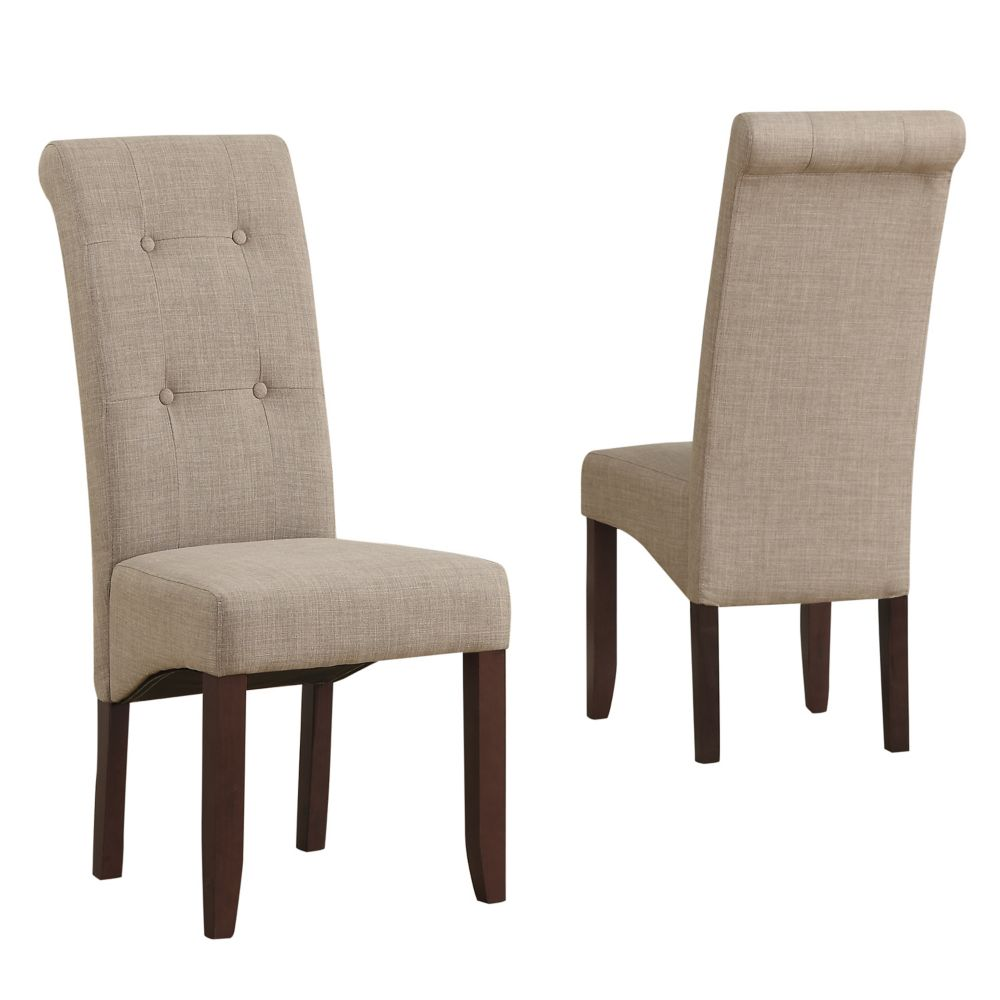 parsons parson logan natural chairs dining seating side chair