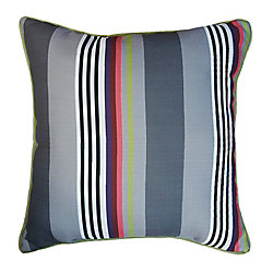 Hampton Bay 17-inch Pillow in Funk Stripe with Luxe Piping