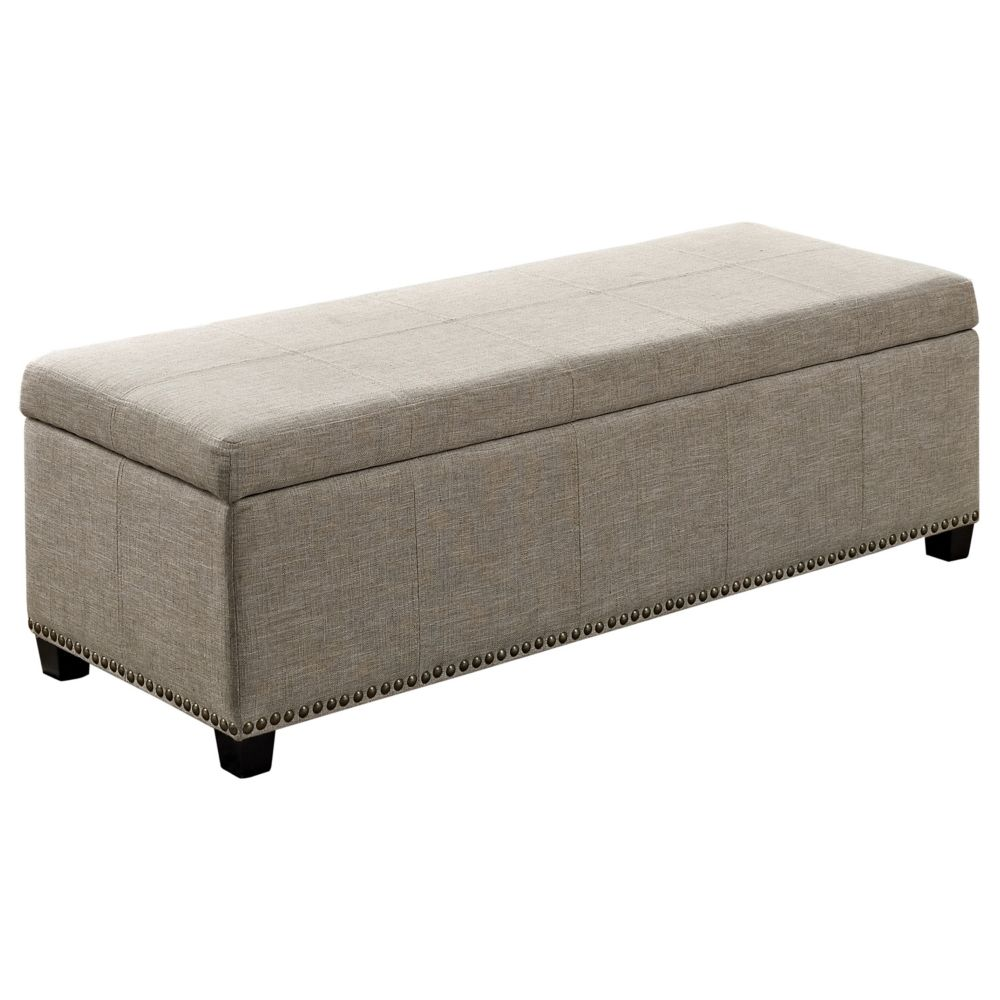 Kingsley Large Rectangular Storage Ottoman Bench